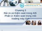 Hệ thống thông tin kế toán -  Chương 3  Rủi ro và Kiểm soát trong AIS, kiểm soát trong môi trường máy tính