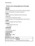 Giáo án Ngữ văn 7 bài 32: Hướng dẫn làm bài kiểm tra tổng hợp