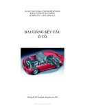 Bài giảng Kết cấu ô tô - ĐH Bách Khoa TP. Hồ Chí Minh