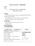 Hình học 7 – Giáo án bài 1: Quan hệ giữa góc và cạnh đối diện trong một tam giác