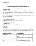 Giáo án Ngữ văn 7 bài 33: Chương trình địa phương phần Văn và Tập làm văn (tiếp)