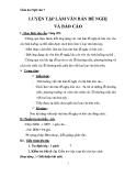 Giáo án Ngữ văn 7 bài 31: Luyện tập làm văn bản đề nghị và báo cáo
