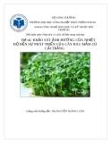 Tiểu luận: Khảo sát ảnh hưởng của nhiệt độ đến sự phát triển của rau mầm củ cải trắng