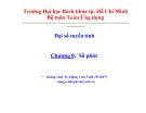 Bài giảng Đại số tuyến tính (ĐH Bách khoa Tp.HCM) - Chương 0 Số phức