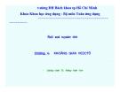 Bài giảng Đại số tuyến tính (ĐH Bách khoa Tp.HCM) - Chương 4 Không gian vec tơ