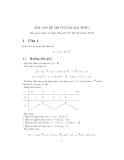 Mẫu đề thi giải tích 1 - ĐH Bách khoa - Đề 3