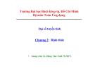 Bài giảng Đại số tuyến tính (ĐH Bách khoa Tp.HCM) - Chương 2 Định thức