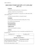 Giáo án Hóa học 9 bài 34: Khái niệm về hợp chất hữu cơ và hóa học hữu cơ