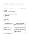 Khái niệm về hợp chất hữu cơ và hóa học hữu cơ - Giáo án bài 34 Hóa 9