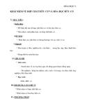 Khái niệm về hợp chất hữu cơ và hóa học hữu cơ - Giáo án Chương 4 Hóa học 9