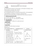 Giáo án Hình học 7 chương 3 bài 9: Tính chất ba đường cao của tam giác