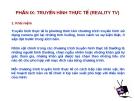 Bài giảng: Truyền hình thực tế