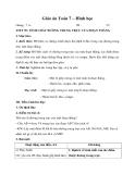 Giáo án Hình học 7 chương 3 bài 7: Tính chất đường trung trực của một đoạn thẳng