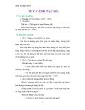 Giáo án Ngữ văn 8 bài 20: Bài thơ Tức cảnh Pác Bó
