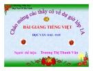 Bài giảng Tiếng Việt 1 bài 92:  Học vần OAI - OAY