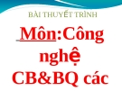Tiểu luận: Tình hình chế biến và tiêu thụ điều của Việt Nam