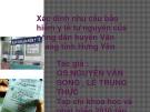 Xác định nhu cầu bảo hiểm y tế  tự nguyện của nông dân huyện Văn Giang tỉnh Hưng Yên