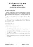 Nghệ thuật lãnh đạo và động viên - TS Nguyễn  Thành Hội