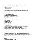 Một số từ vựng Anh - Việt về kĩ thuật điện cơ lò hơi