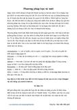 Phương pháp học từ vựng tiếng Anh mới (trên 50 từ / ngày)