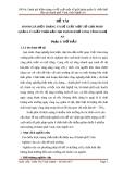 Đề tài: Đánh giá hiện trạng và đề xuất một số giải pháp quản lý chất thải rắn tại thành phố Vinh, tỉnh Nghệ An