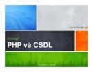 Lập trình web - Chương 6 PHP và CSDL