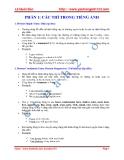 Chuyên đề luyện thi đại học môn Anh