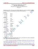 Đề thi môn Anh tuyển sinh ĐH khối A1 năm 2013 (mã 475)