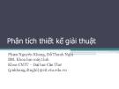 Bài giảng: Phân tích thiết kế giải thuật (ĐH Cần Thơ)