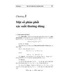 Lý thuyết xác suất thống kế (Phạm Đức Thông)  - Chương 3: Một số phân phối xác suất thường dùng