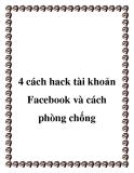 4 cách hack tài khoản Facebook và cách phòng chống