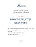 Báo cáo thực tập nhận thức: Ngân hàng TMCP Sài Gòn Thương tín - Chi nhánh An Giang