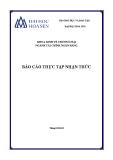 Báo cáo thực tập nhận thức: Ngân hàng TMCP Ngoại Thương Vietcombank - Chi nhánh TP HCM