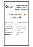 Báo cáo thực tập nhận thức: Phòng Kinh doanh thẻ tín dụng - Ngân hàng TMCP Techcombank, số 6 NTMK, TP.HCM