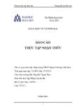 Báo cáo thực tập nhận thức: Ngân hàng TMCP Ngoại Thương Việt Nam