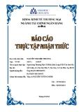 Báo cáo thực tập nhận thức: Ngân hàng Thương Mại Cổ Phần Kiên Long - Phòng giao dịch Tân Sơn Nhì