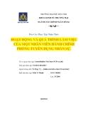 Báo cáo thực tập nhận thức: Hoạt động và quá trình làm việc của một nhân viên hành chính phòng tuyển dụng nhân sự