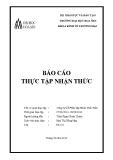 Báo cáo thực tập nhận thức: Công ty Cổ phần Tập đoàn Thái Tuấn