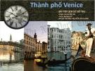 Bài tập lịch sử đô thị: Thành phố Venice