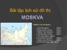 Bài tập lịch sử đô thị: Lịch sử đô thị Moskva