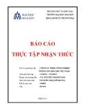 Báo cáo thực tập nhận thức: Công ty TNHH công nghiệp thông gió Kruger Việt Nam