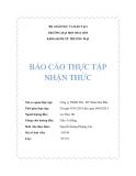 Báo cáo thực tập nhận thức: Công ty TNHH TM - DV Nhân Hòa Phát