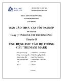Báo cáo thực  tập tốt nghiệp: Ứng dụng Imc vào hệ thống siêu thị Maxi mark