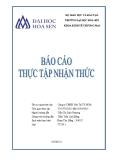 Báo cáo thực tập nhận thức: Công ty TNHH Vận Tải TP.Hồ Chí Minh
