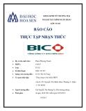 Báo cáo thực tập nhận thức: Tổng công ty bảo hiểm BIDV