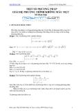 Chuyên đề bồi dưỡng học sinh giỏi: Một số phương pháp giải hệ phương trình không mẫu mực