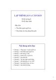 Lập trình Java căn bản -  Giới thiệu