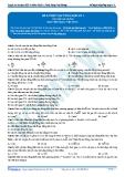 Luyện thi ĐH KIT 1 (Đặng Việt Hùng) - Tài liệu bài giảng: Đề luyện tập tổng hợp số 1