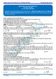 Luyện thi ĐH KIT 1 (Đặng Việt Hùng) - Đề luyện tập tổng hợp số 4 (Bài tập tự luyện)