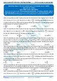 Luyện thi ĐH vật lí - Bài tập phương pháp véc tơ trượt giải toán điện xoay chiều